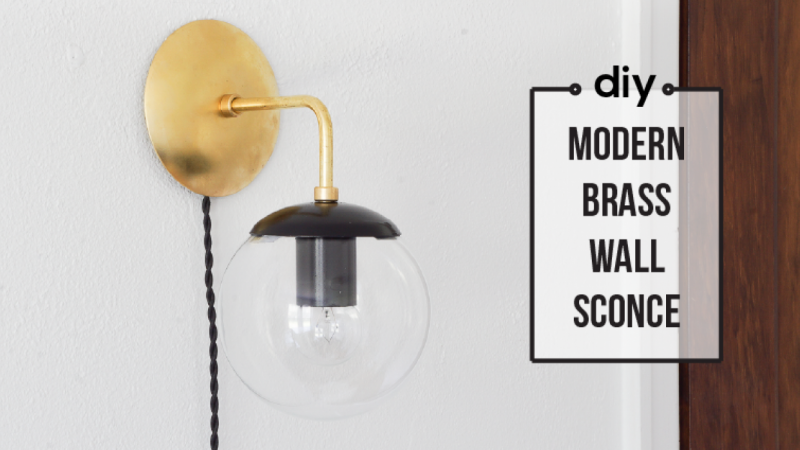 Diy lighting build a brass wall sconce skillshare projects for Diy wall light cover