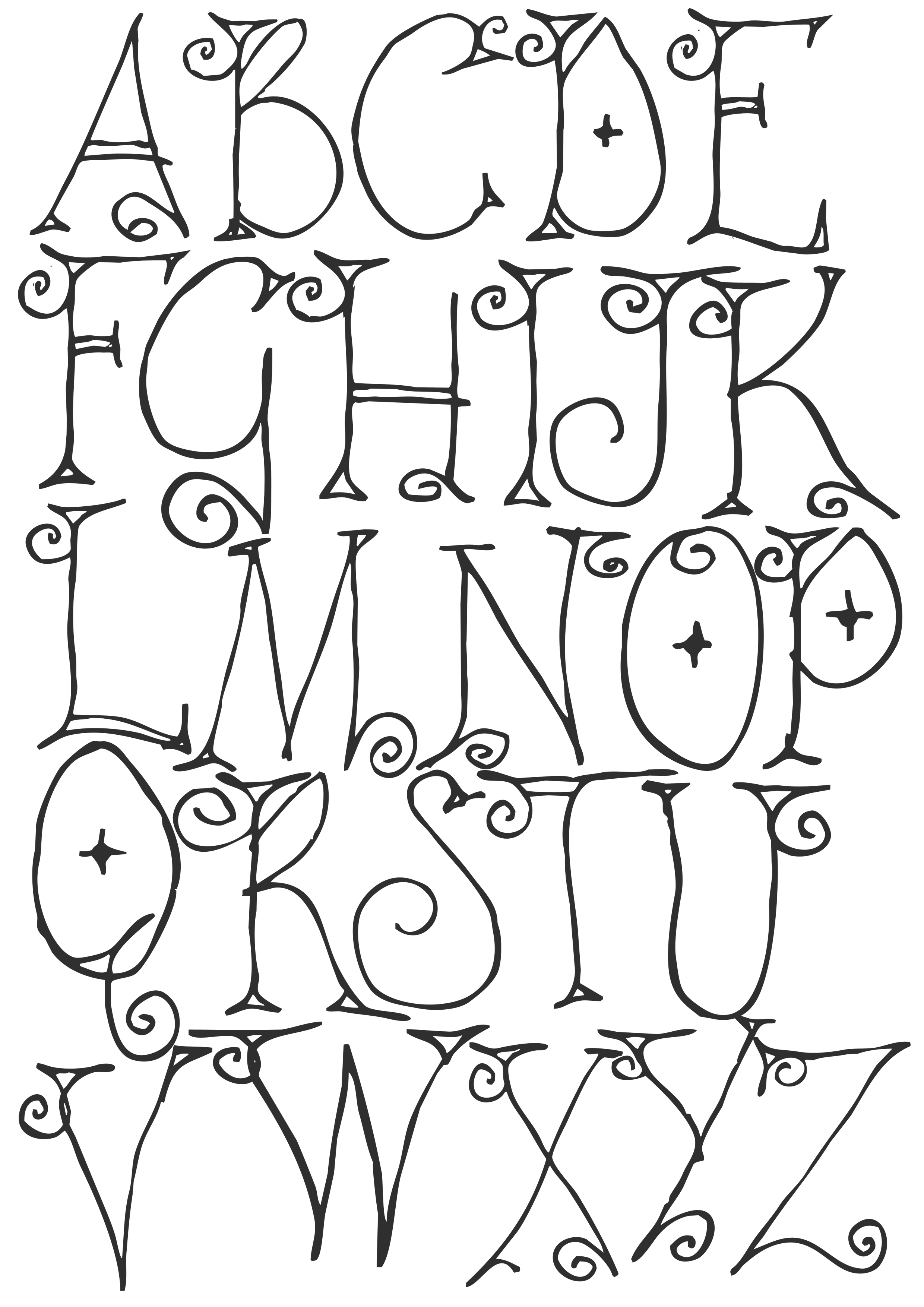 Hand Drawn Whimsical Font