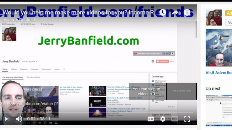 My YouTube Ad!