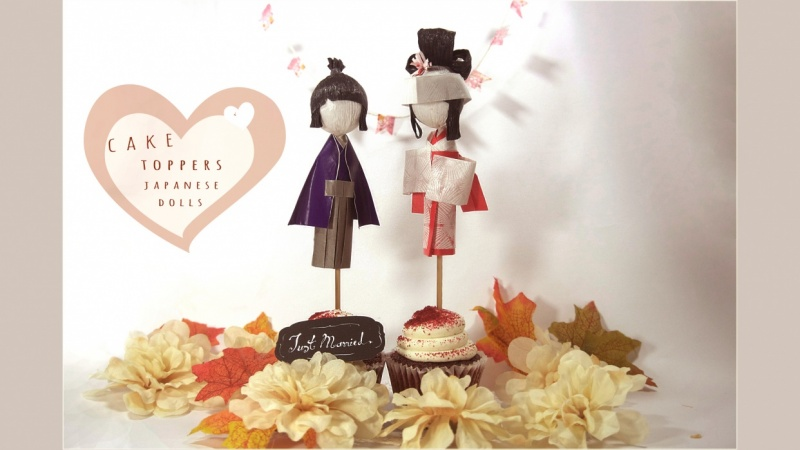Wedding Cake Topper 1 How To Make A Japanese Paper Doll Set