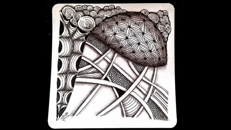 Lets Tangle Four Basic Tangle Patterns Using The Zentangle Method Mesmerizing Tangle Patterns