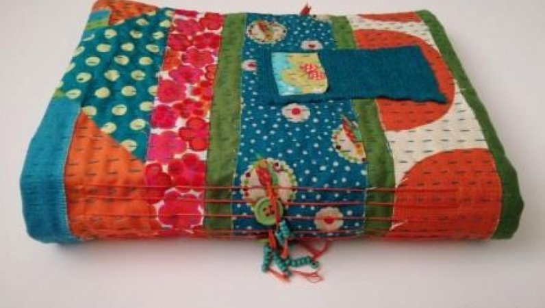 Bookbinding project Kantha style...