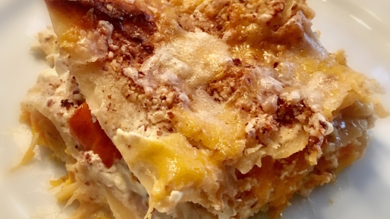 Yummy pumpkin lasagna (version 1)