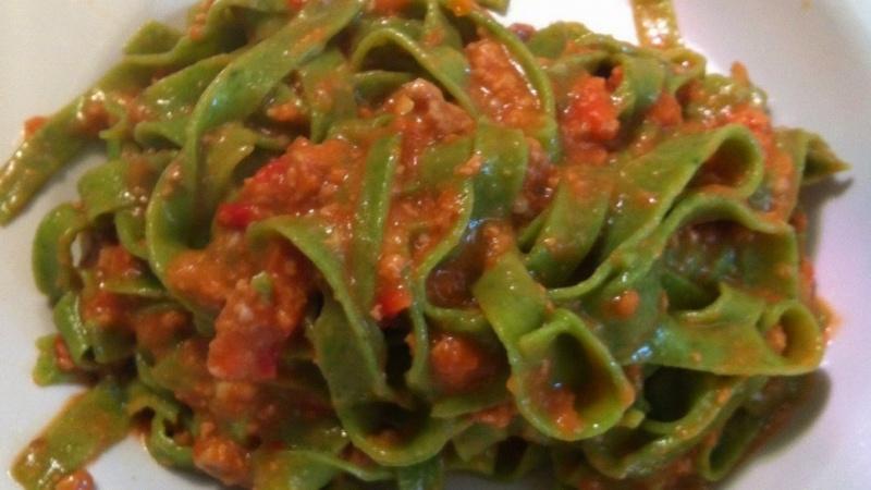 Bolognese sauce for dinner.