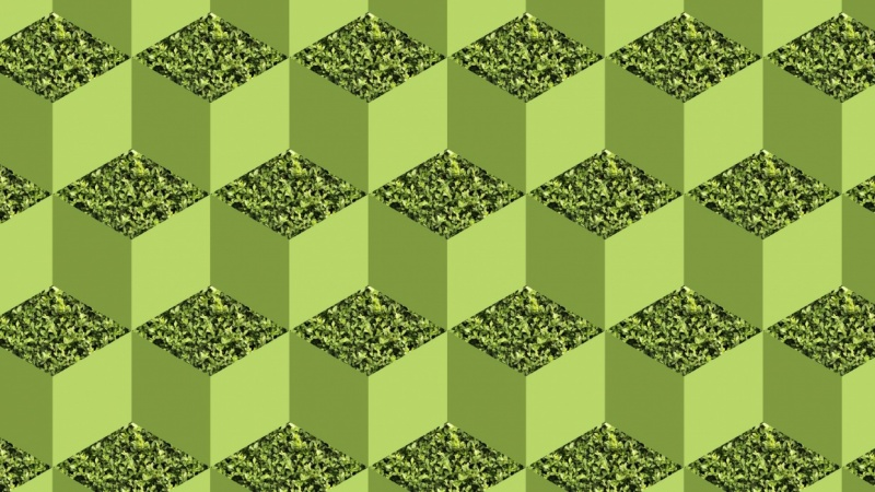 Green isometric cube pattern | Skillshare Projects