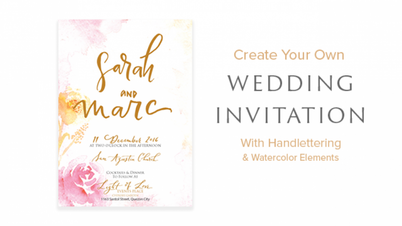 Create your Own Wedding Invitation With Handlettering and Watercolor