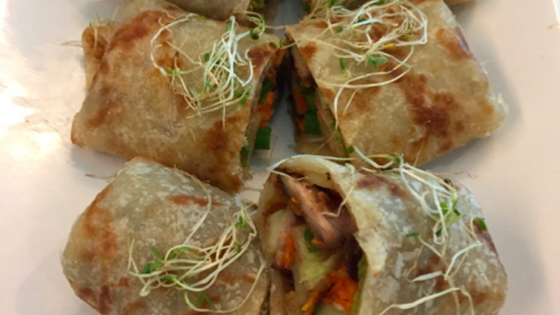 Chinese BBQ Pork Wrap Roll