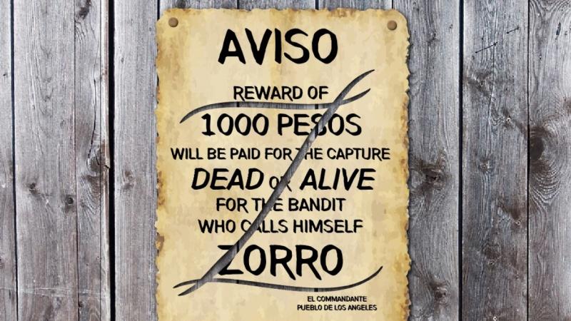 Zorro Wanted Poster