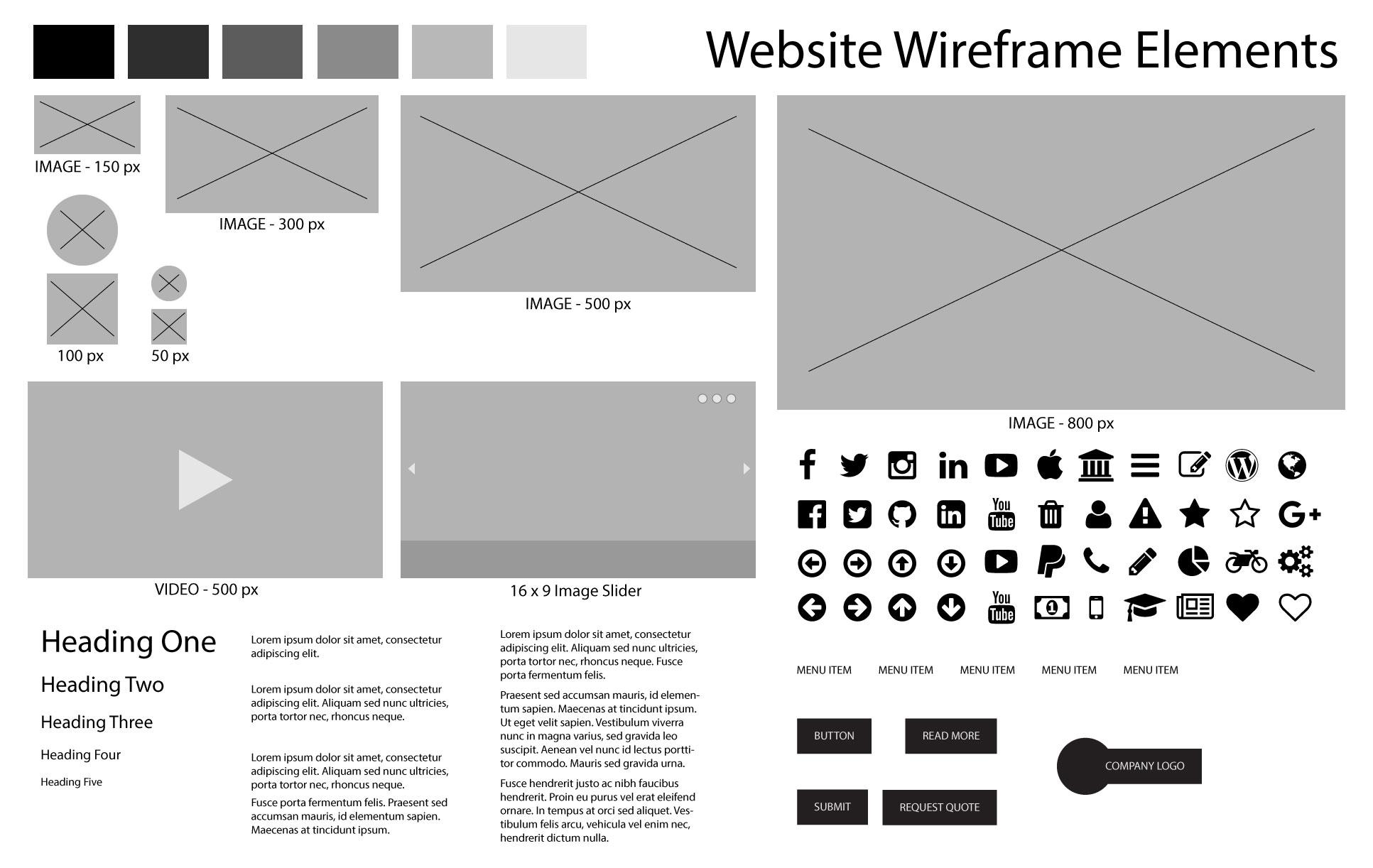 Wireframe Elements in Illustrator | Skillshare Projects