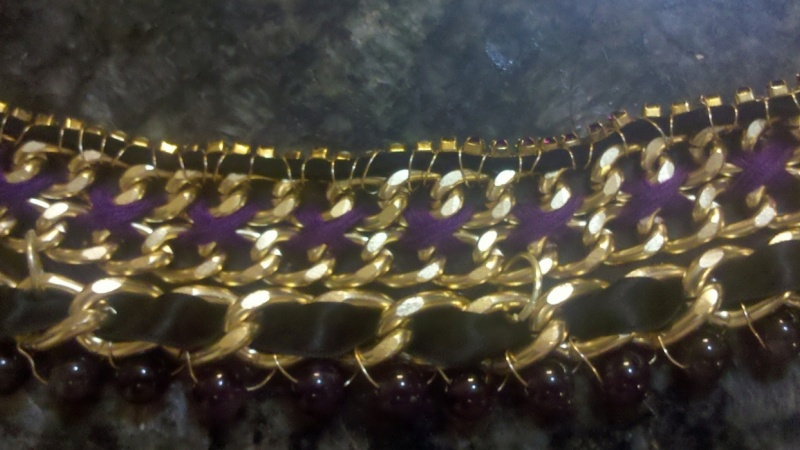 Eden's Gold & Purple Statement Necklace