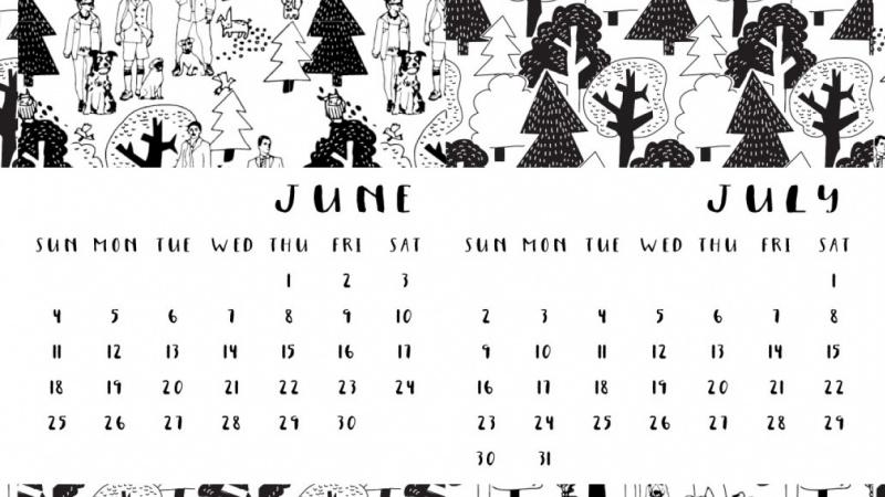 My first calendar!