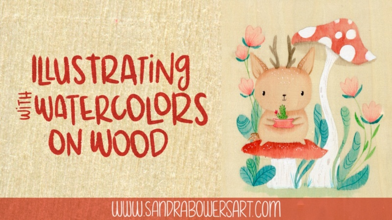 Illustrating with Watercolors on Wood Sample Project