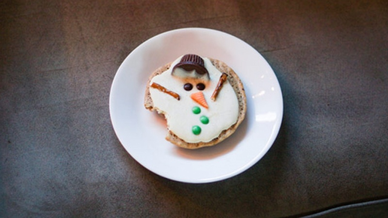 Cute Melted Snowman
