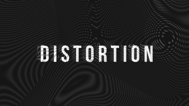 Distortion Moire Typography