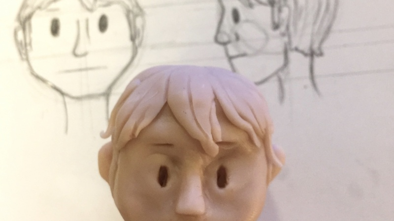 Clay Model - Draw the Head