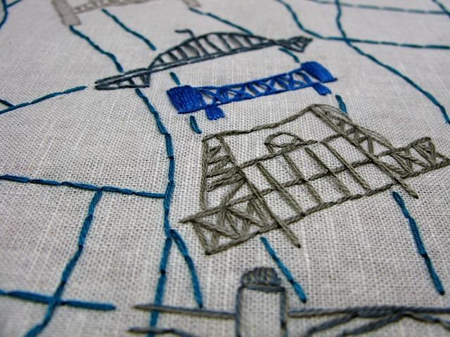Embroidered Map Of Portland Oregon Skillshare Projects