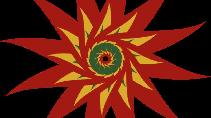 Overlapped Shape Flower