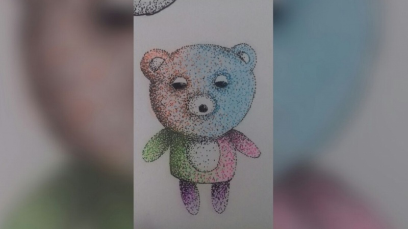 Colored Bear