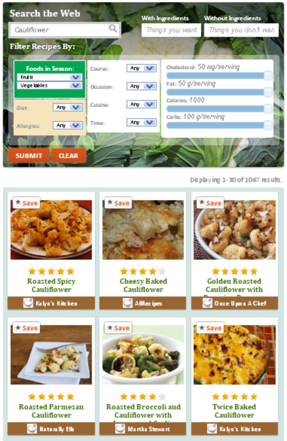 Meal planner pro skillshare projects recipe search engine all recipes include nutrition facts forumfinder Gallery