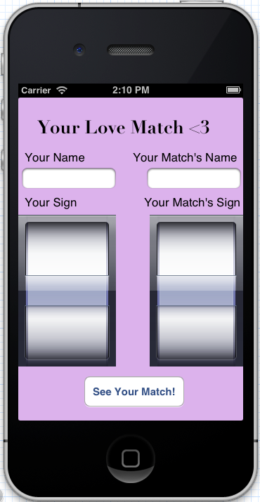 Your Love Match -- An Astrological Compatibility Reference App