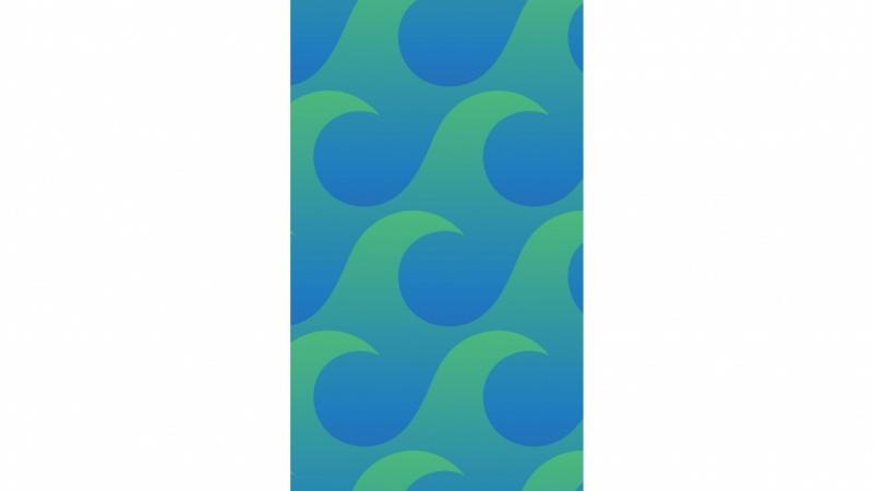 Wave Pattern Water Bottle