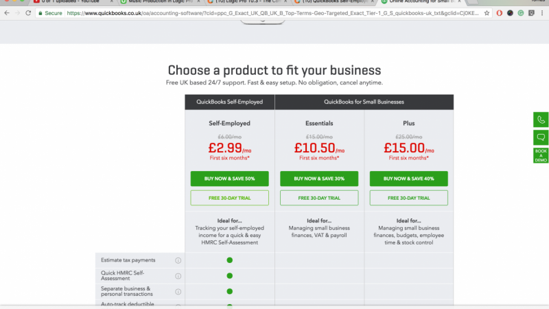 Quickbooks for UK 30-Day free trial