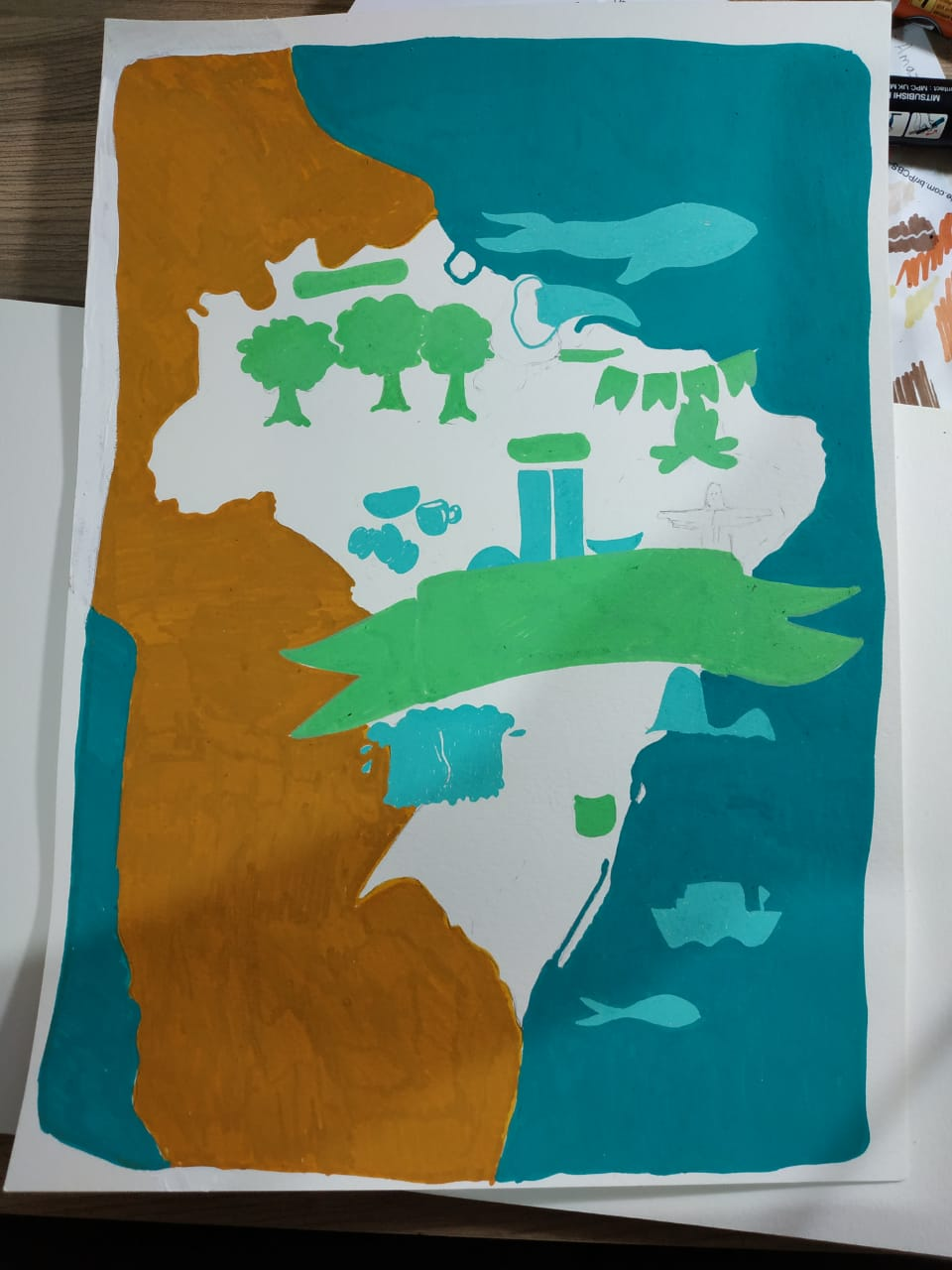 Brazil map - image 2 - student project