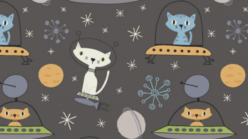 Astro Cats Pattern