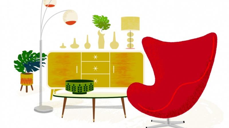 Mid Century Livingroom
