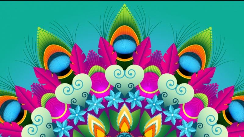 Real Time Peacock Mandala Design