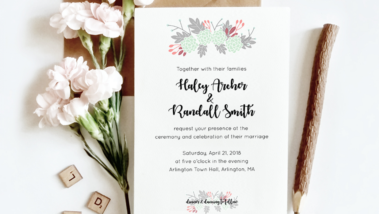 How to Design Your Own Spring Wedding Invitation in Adobe Illustrator |  Skillshare Projects