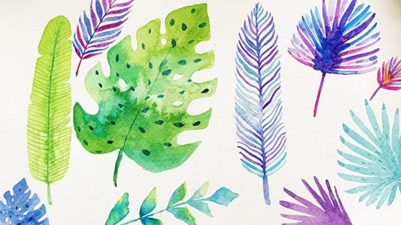 Fun Vibrant Tropical Foliage