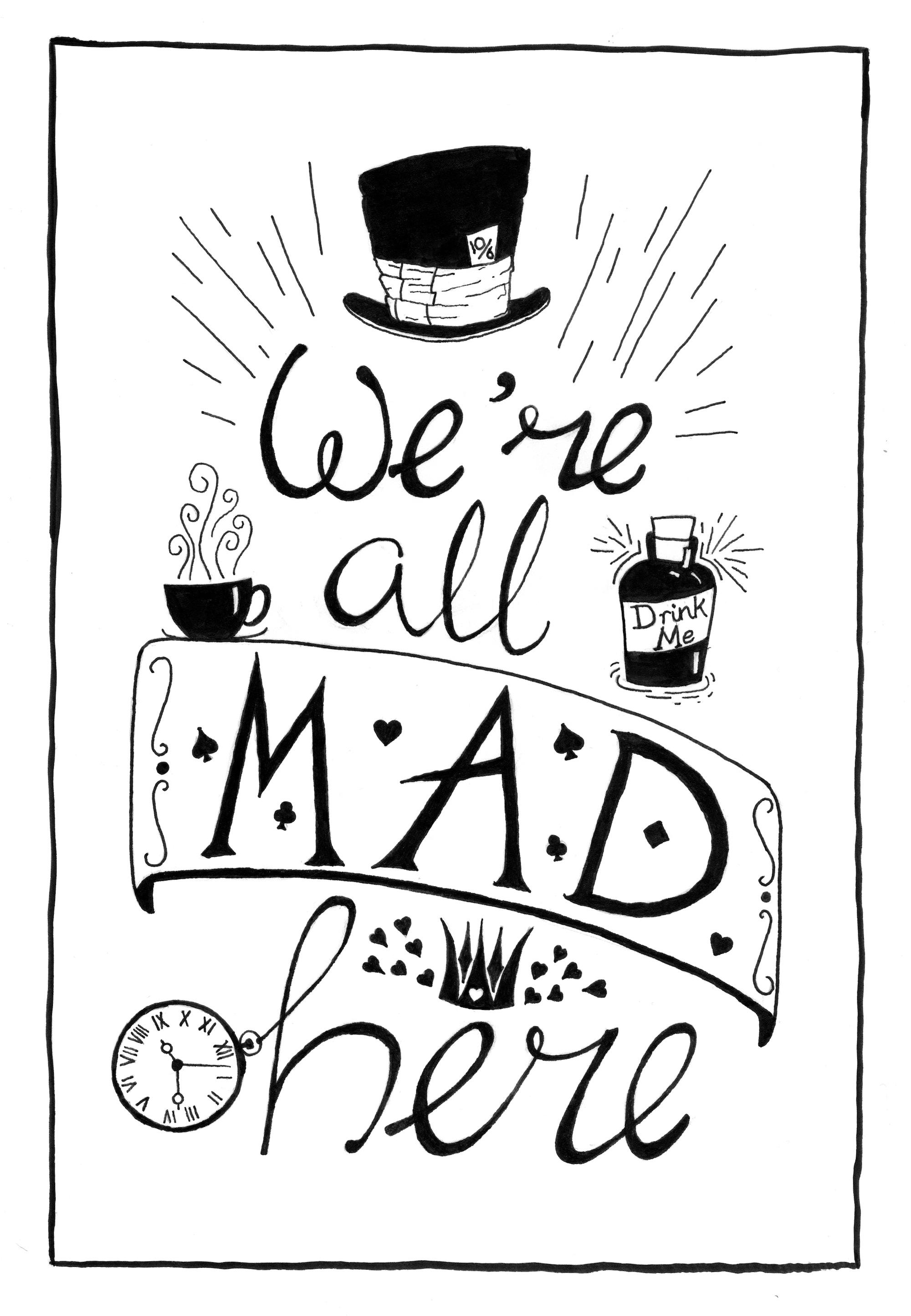 Alice S Adventures In Wonderland Quote Illustration Skillshare