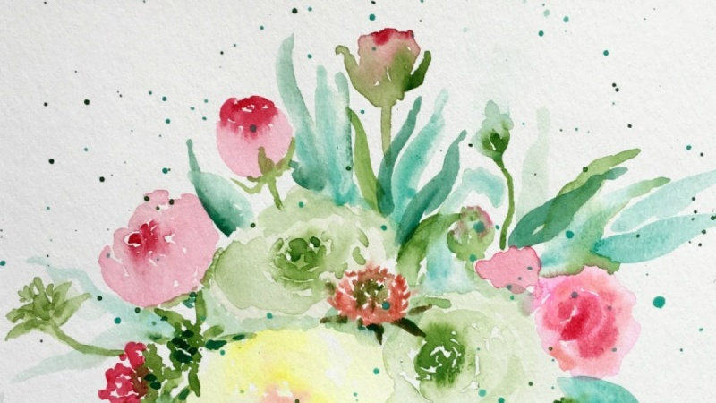 Floral Loose Watercolor