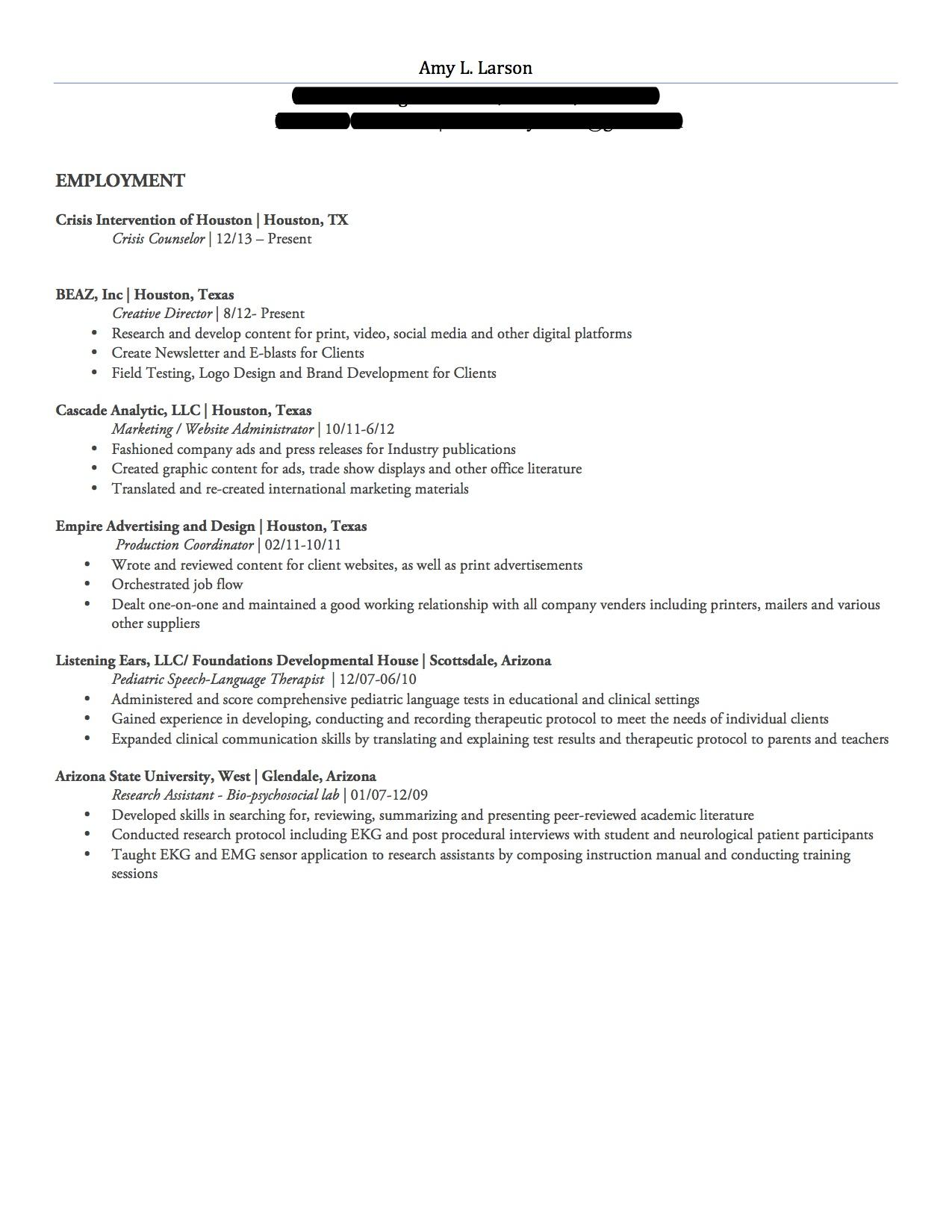 bartender resume description resume example work experience bar in texas