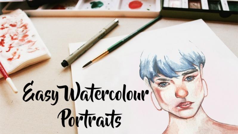 Easy Watercolour Portraits