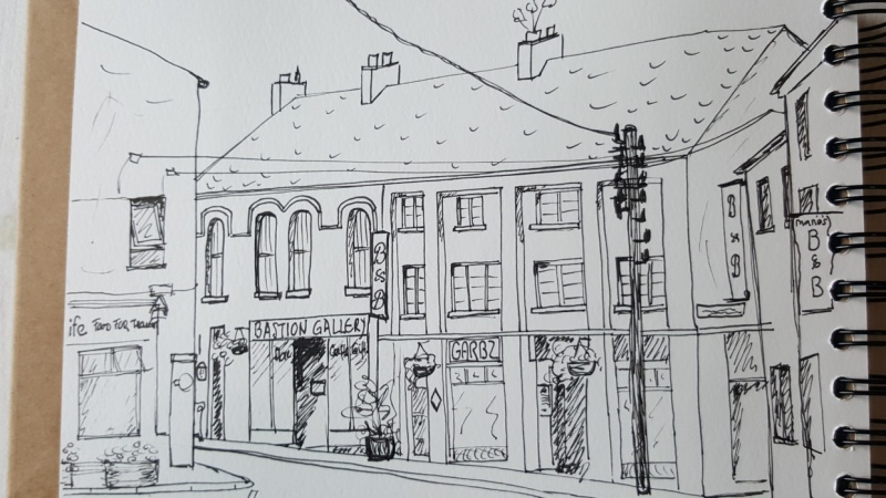 Sketching Athlone (Ireland)