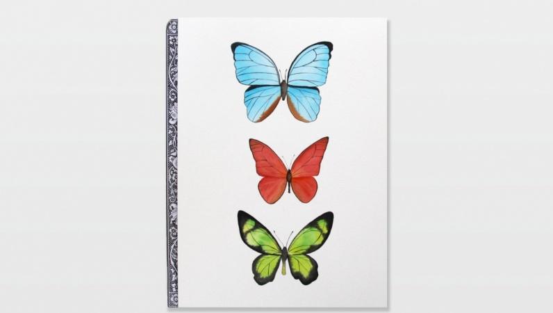 Three Watercolor Butterflies