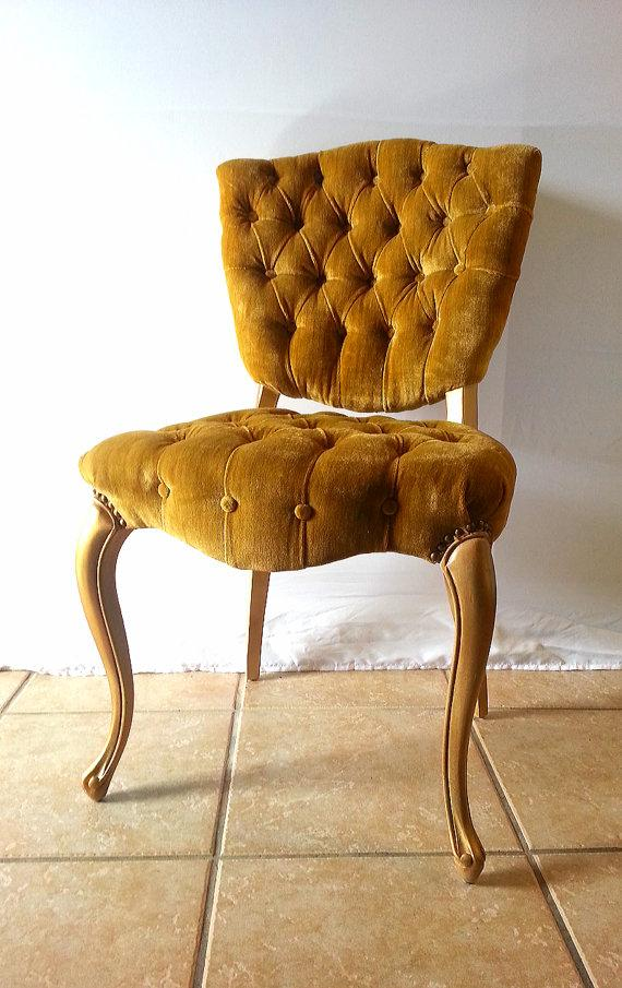 Beau Vintage Gold Velvet Chair Design Ideas