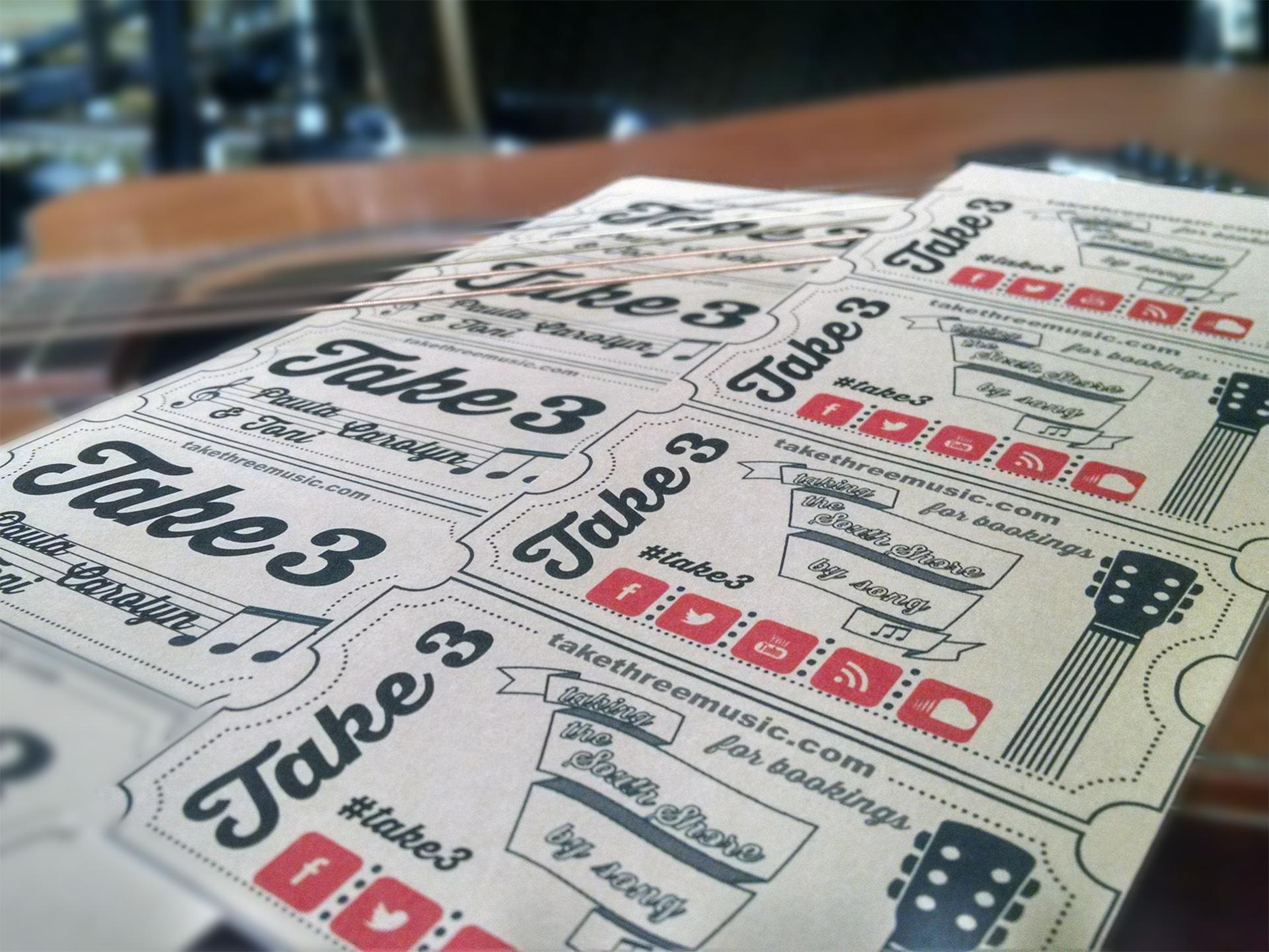 Take 3 Music Trio Business Card feat. JukeBox | Skillshare Projects