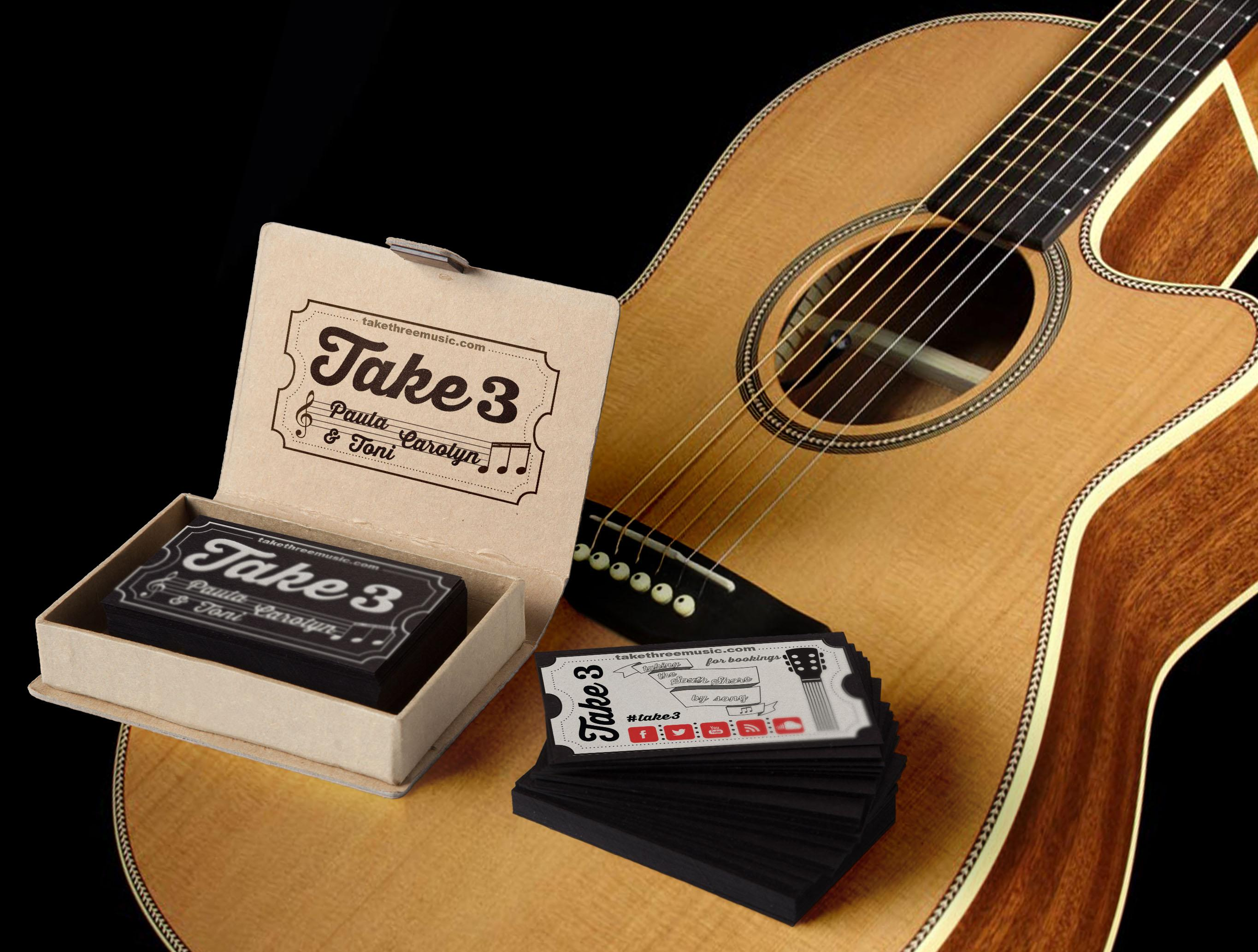 Take 3 Music Trio Business Card feat JukeBox
