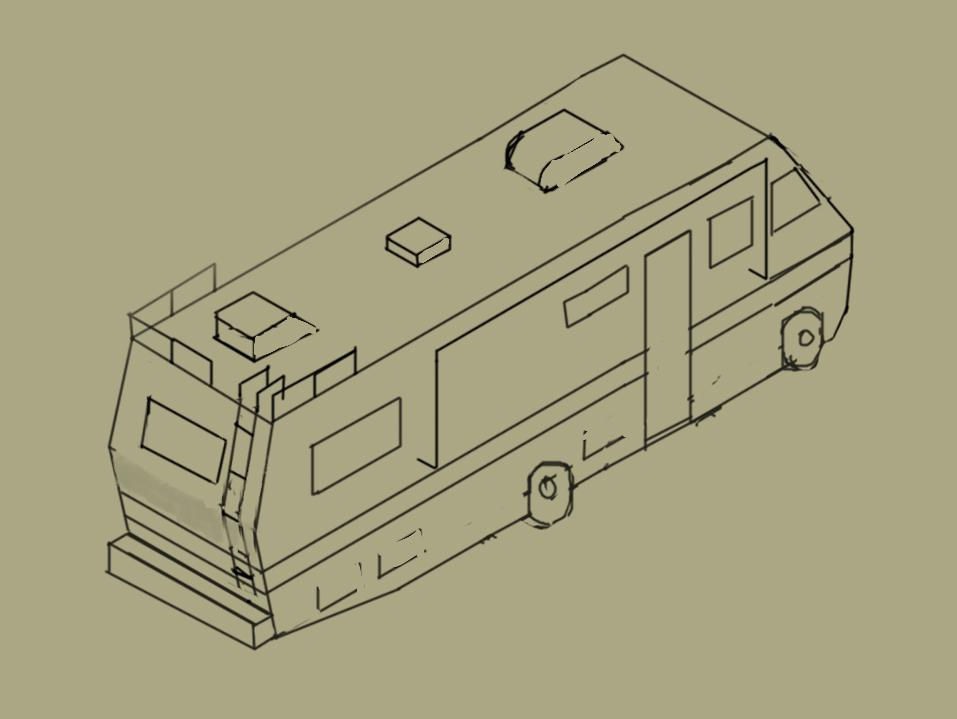 Breaking Bad Rv Drawing