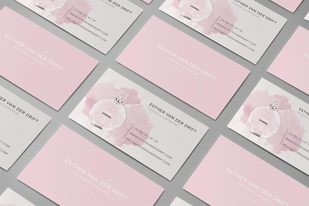Business card for a fashion illustrator | Skillshare Projects