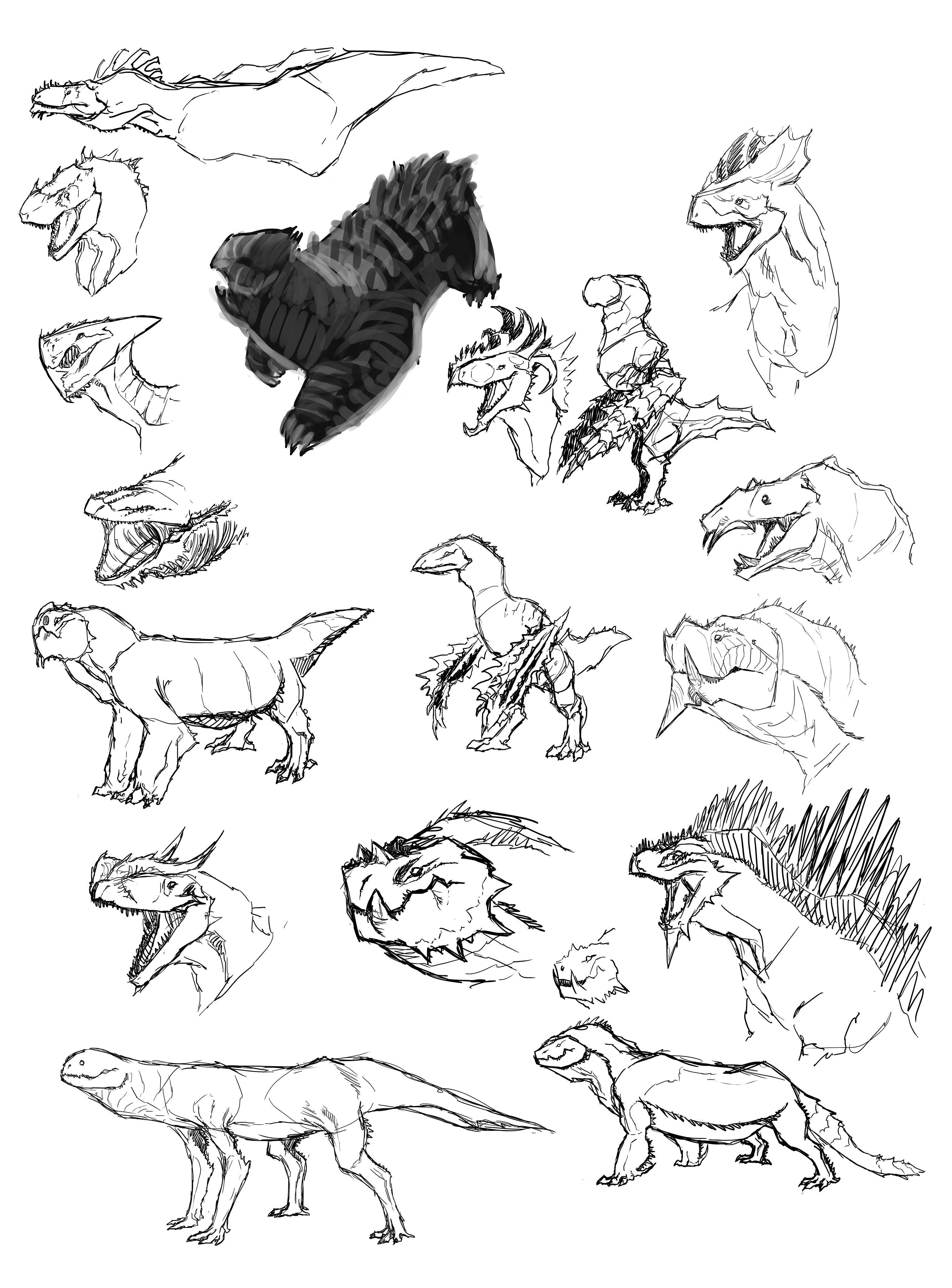 creature design reptile skillshare projects