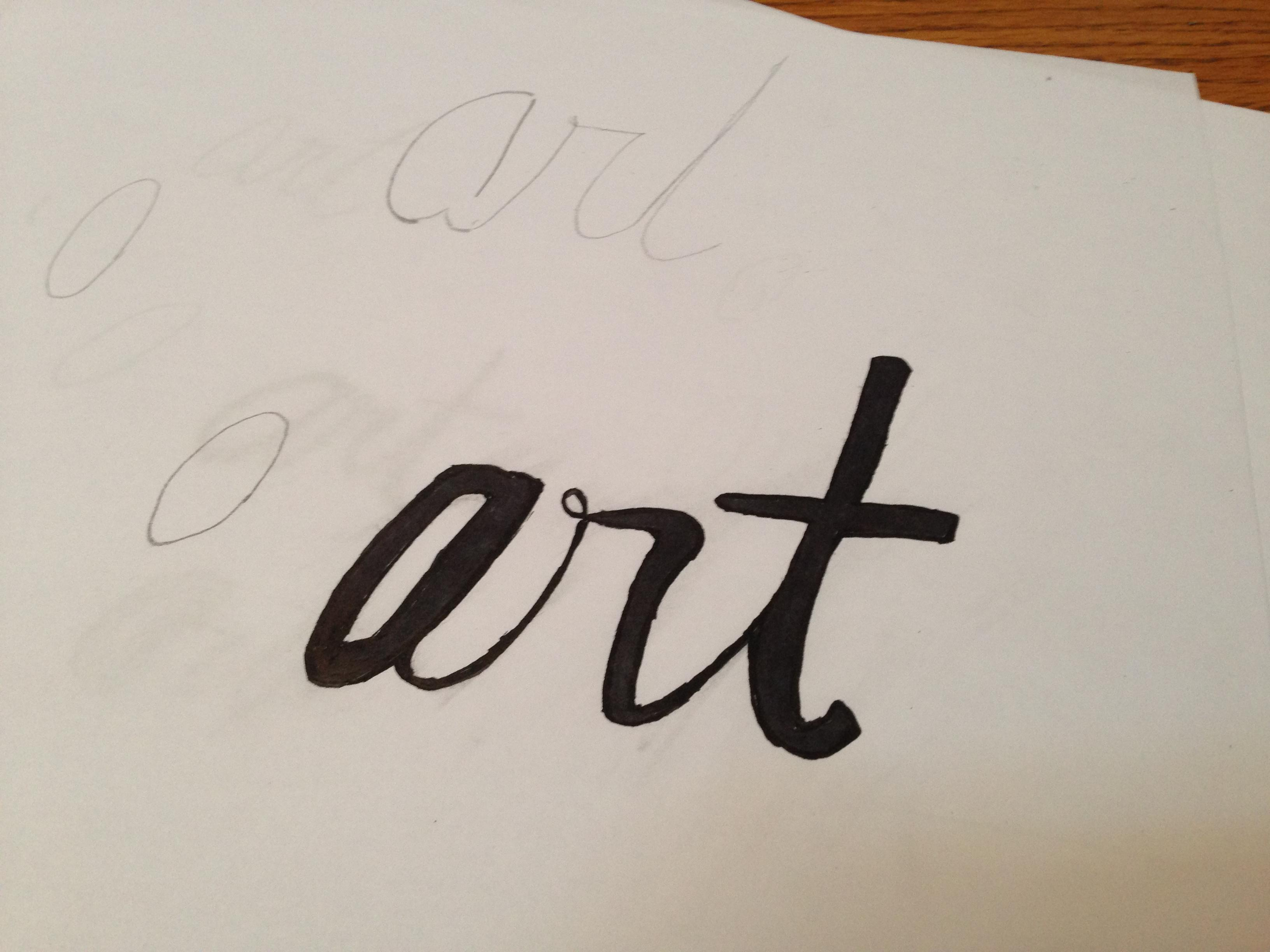 Since So Much Of This Phrase Is Hinged On The Word Art I Tried Writing It In A Few Different Styles