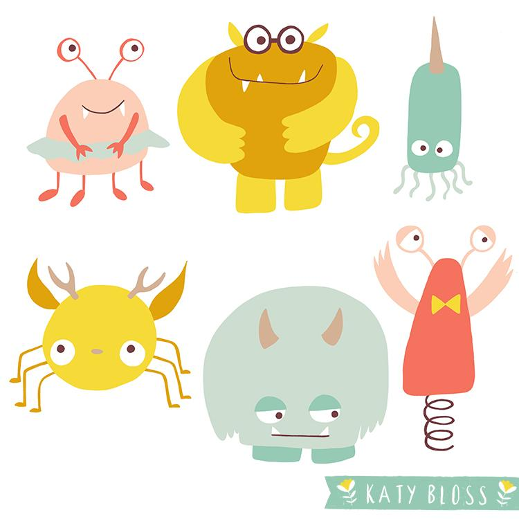 Monster Party by Katy Bloss | Skillshare Projects