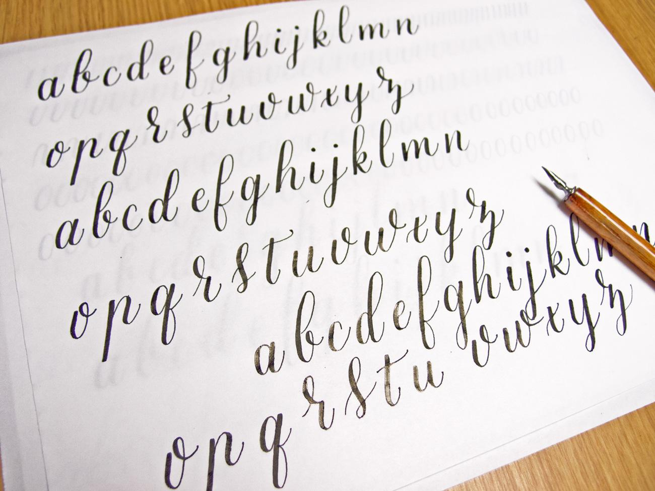 Free calligraphy alphabet practice sheets printable