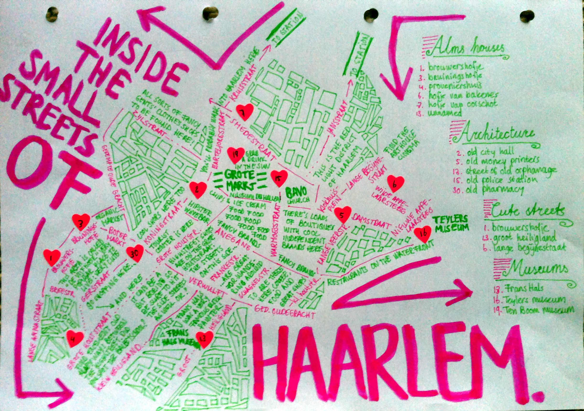 Haarlem Walks map | Skillshare Projects