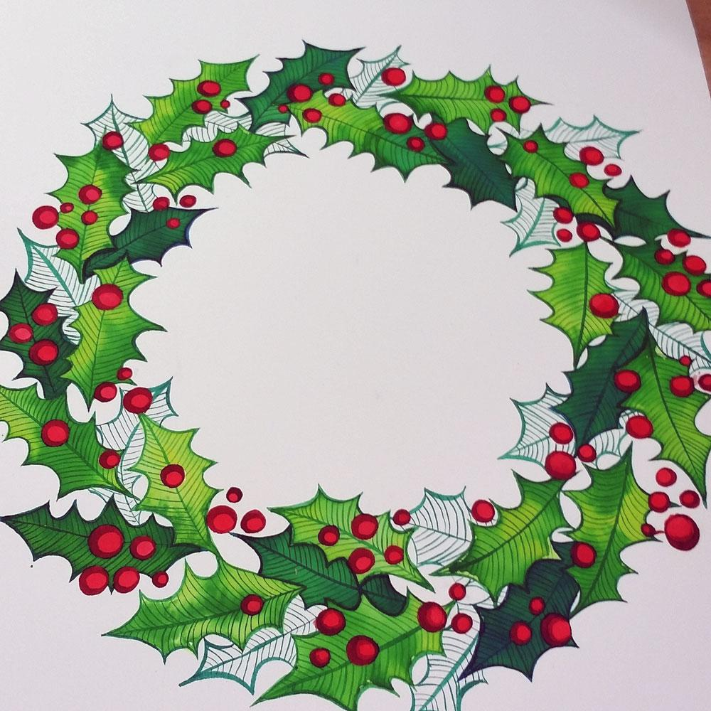 Christmas Holiday Wreath   Skillshare Projects