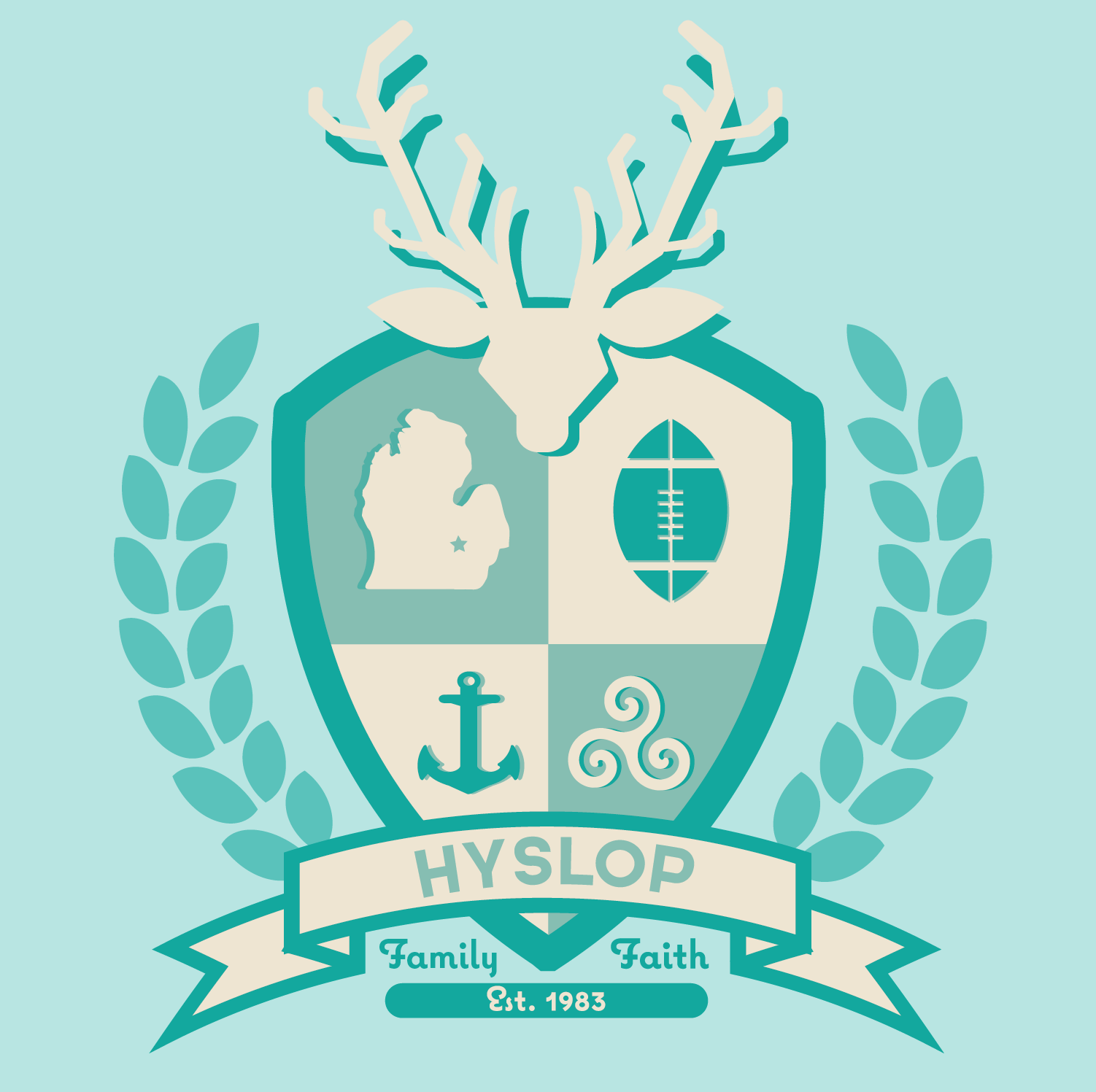 Hyslop family crest skillshare projects the laurals is a representation of our family being 3 generations greek college fraternity and sorority putting it all together it really represents our buycottarizona Images